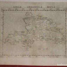 Arte: ISLA DE SANTO DOMINGO O LA ESPAÑOLA (ANTILLAS, AMÉRICA), 1562. PTOLOMEO/MOLETO. Lote 266582198