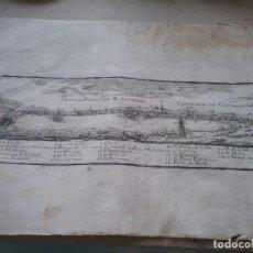 Art: MAPA DE VEUE OU PROFILE DE BARCELONNE. ESPAÑA . NICOLAS DE FER (457-2). Lote 266766703