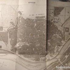 Arte: SEVILLA - RARO PLANO FRANCÉS DE LA CIUDAD - AÑO 1879 - 20 X 17 CM - EXCELENTE ESTADO. Lote 266818504