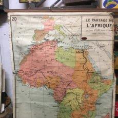 Arte: L'AFRIQUE ,MAPA DE ESCUELA LE PARTAGE DE L'AFRIQUE. Lote 266922684