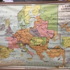 Arte: ANTIGUO MAPA DE ESCUELA L'EUROPE A LA FIN DU XV SIECLE. Lote 266924229