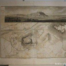 Arte: GRAN PLANO Y VISTA DE LA BATALLA NAPOLEÓNICA DE LÉRIDA (ESPAÑA), 1828. LOUIS-GABRIEL SUCHET /COLLIN. Lote 267033309