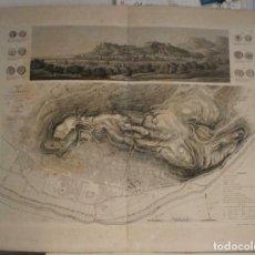 Arte: GRAN PLANO Y VISTA DE LA BATALLA DE SAGUNTO (VALENCIA, ESPAÑA), 1828. LOUIS-GABRIEL SUCHET /COLLIN. Lote 267044154
