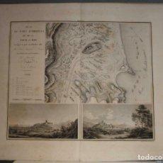 Arte: BATALLA Y VISTAS DE LA BATALLA DE OROPESA (CASTELLÓN, ESPAÑA), 1828. LOUIS-GABRIEL SUCHET/COLLIN. Lote 267117034