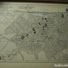 Art: ALBACETE RARO PLANO DE LA CIUDAD - GRABADO LITOGRÁFICO AÑO 1927 - MEDIDAS 15 X 10 CM APROX. Lote 267302479
