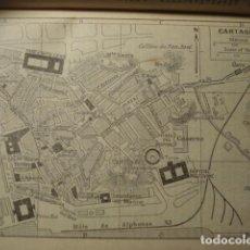 Art: CARTAGENA RARO PLANO DE LA CIUDAD - GRABADO LITOGRÁFICO AÑO 1927 - MEDIDAS 15 X 10 CM APROX. Lote 267302774