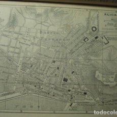 Arte: ALICANTE RARO PLANO DE LA CIUDAD - GRABADO LITOGRÁFICO AÑO 1927 - MEDIDAS 15 X 10 CM APROX. Lote 267302944