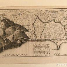 Arte: VISTA DE MONJUIC Y PLANO DE BARCELONA (ESPAÑA), HACIA 1695. NICOLÁS DE FER/INSELIN. Lote 267398934