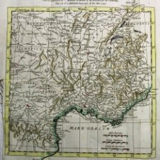 Arte: MAPA A COLOR DE ANTIGUA PROVENZA ROMANA (FRANCIA), 1771. ANVILLE/ROLLIN/FAURE. Lote 268308324
