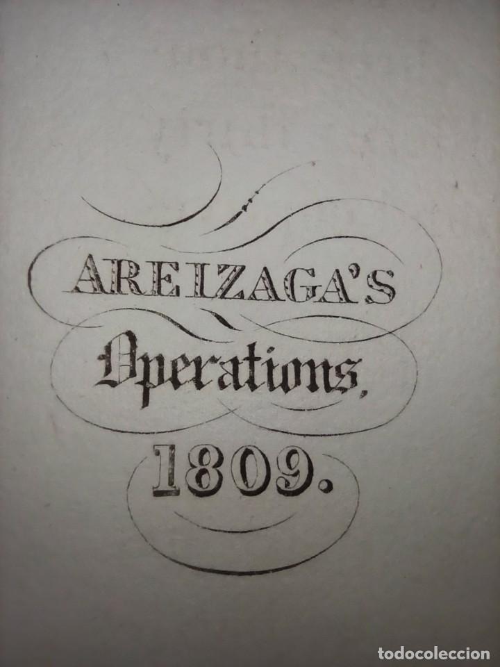 MAPA ARÉIZAGA,BATALLA OCAÑA, TOLEDO, GUERRA INDEPENDENCIA, ORIGINAL, 1831. LONDRES, NAPIER. (Arte - Cartografía Antigua (hasta S. XIX))