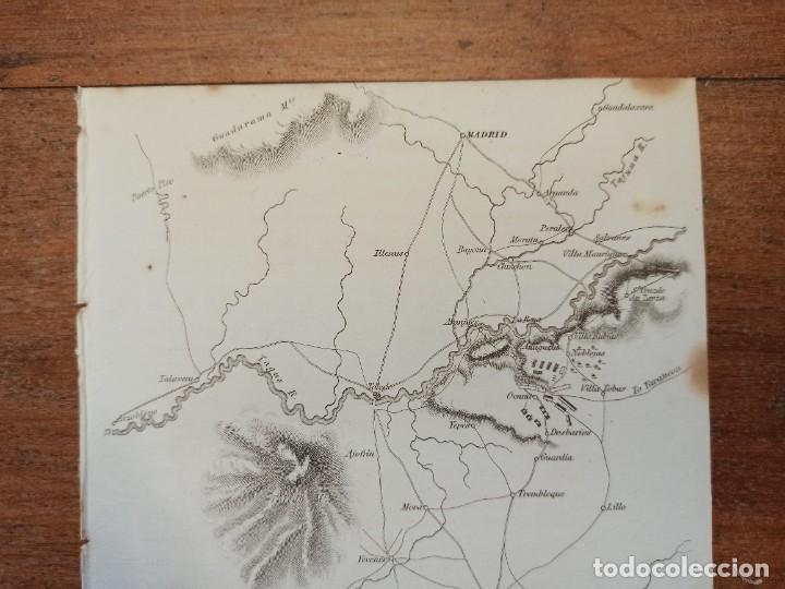 Arte: MAPA ARÉIZAGA,BATALLA OCAÑA, TOLEDO, GUERRA INDEPENDENCIA, ORIGINAL, 1831. LONDRES, NAPIER. - Foto 4 - 268615644