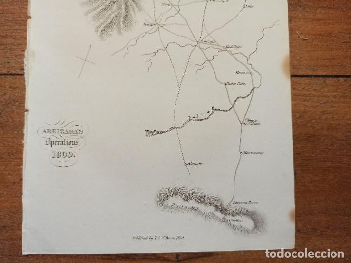 Arte: MAPA ARÉIZAGA,BATALLA OCAÑA, TOLEDO, GUERRA INDEPENDENCIA, ORIGINAL, 1831. LONDRES, NAPIER. - Foto 6 - 268615644