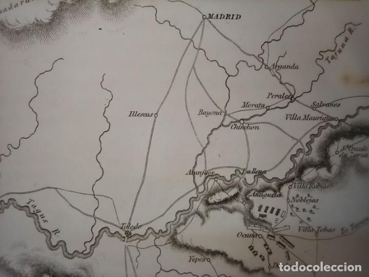 Arte: MAPA ARÉIZAGA,BATALLA OCAÑA, TOLEDO, GUERRA INDEPENDENCIA, ORIGINAL, 1831. LONDRES, NAPIER. - Foto 7 - 268615644