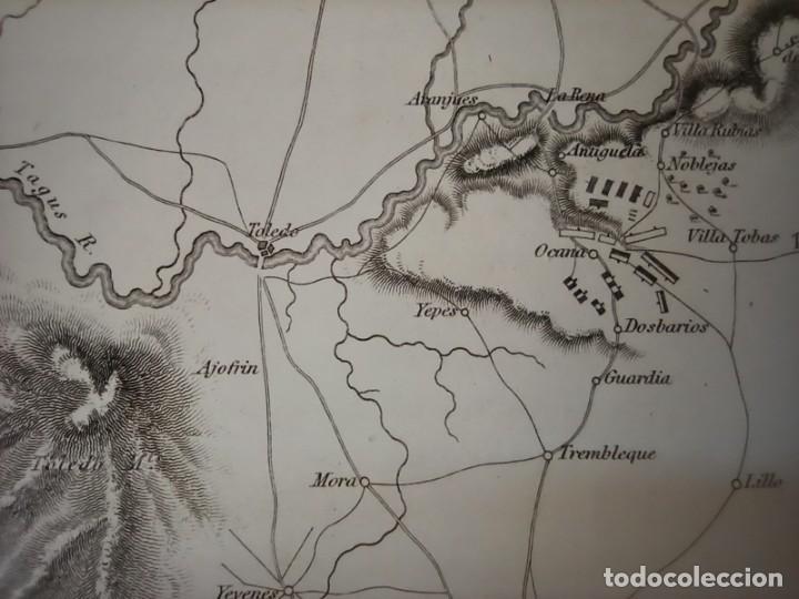 Arte: MAPA ARÉIZAGA,BATALLA OCAÑA, TOLEDO, GUERRA INDEPENDENCIA, ORIGINAL, 1831. LONDRES, NAPIER. - Foto 8 - 268615644