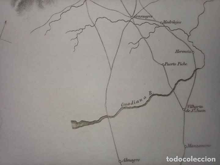 Arte: MAPA ARÉIZAGA,BATALLA OCAÑA, TOLEDO, GUERRA INDEPENDENCIA, ORIGINAL, 1831. LONDRES, NAPIER. - Foto 9 - 268615644