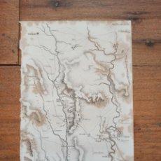 Arte: MAPA OPERACIONES MILITARES BADAJOZ, TALAVERA, GUERRA INDEPENDENCIA, ORIGINAL, 1829. LONDRES, NAPIER.. Lote 268802559