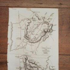 Arte: MAPA OPERACIONES MILITAR RIO MONDENGO PORTUGAL GUERRA INDEPENDENCIA, ORIGINAL 1831.LONDRES, NAPIER.. Lote 268874589