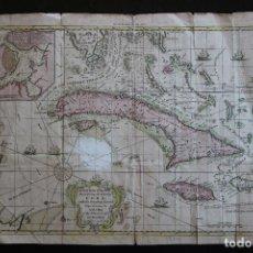 Arte: MAPA DE LA ISLA DE CUBA - AÑO 1800 -. Lote 268880079