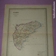 Arte: ANTIGUO MAPA DE ALICANTE EN LITOGRAFÍA POR MARTÍN FERREIRO DE GASPAR Y ROIG EDITORES - AÑO 1852-1864. Lote 269248818