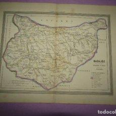 Arte: ANTIGUO MAPA DE BADAJOZ EN LITOGRAFÍA POR MARTÍN FERREIRO DE GASPAR Y ROIG EDITORES - AÑO 1852-1864. Lote 269249608
