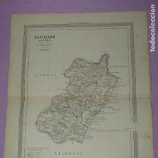 Arte: ANTIGUO MAPA CASTELLON LITOGRAFÍA POR MARTÍN FERREIRO DE GASPAR Y ROIG EDITORES - AÑO 1852-1864. Lote 269251328