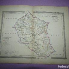 Arte: ANTIGUO MAPA CÓRDOBA EN LITOGRAFÍA POR MARTÍN FERREIRO DE GASPAR Y ROIG EDITORES - AÑO 1852-1864. Lote 269251638