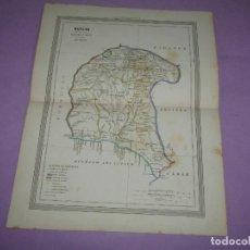 Arte: ANTIGUO MAPA DE HUELVA EN LITOGRAFÍA POR MARTÍN FERREIRO DE GASPAR Y ROIG EDITORES - AÑO 1852-1864. Lote 269252843