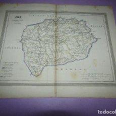 Arte: ANTIGUO MAPA DE JAÉN EN LITOGRAFÍA POR MARTÍN FERREIRO DE GASPAR Y ROIG EDITORES - AÑO 1852-1864. Lote 269253478