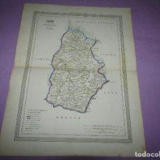 Arte: ANTIGUO MAPA DE LUGO EN LITOGRAFÍA POR MARTÍN FERREIRO DE GASPAR Y ROIG EDITORES - AÑO 1852-1864. Lote 269254118