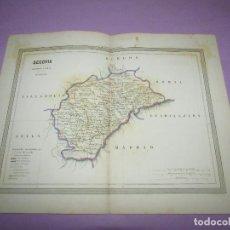 Arte: ANTIGUO MAPA SEGOVIA EN LITOGRAFÍA POR MARTÍN FERREIRO DE GASPAR Y ROIG EDITORES - AÑO 1852-1864. Lote 269255993
