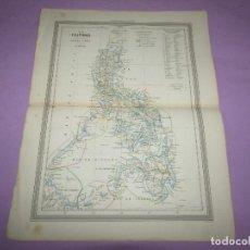 Arte: ANTIGUO MAPA FILIPINAS POSESIONES ESPAÑOLAS DE ULTRAMAR DE GASPAR Y ROIG EDITORES - AÑO 1852-1864. Lote 269259433