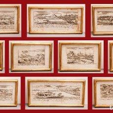 Arte: HUNGRÍA - VISTAS GRABADAS DE 10 CIUDADES - C. 1800. Lote 269484493