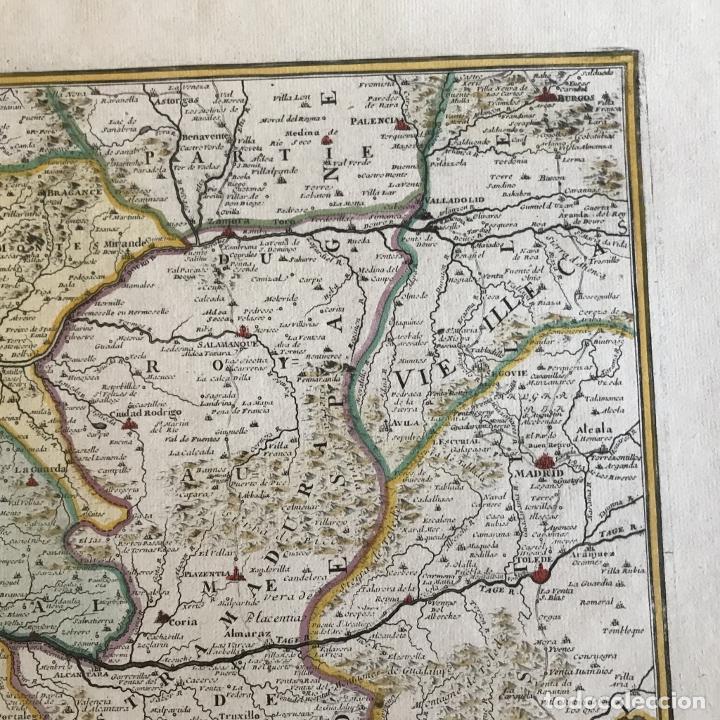 Arte: Gran mapa de Portugal y el occidente de España, 1705. N. de Fer/Starckman - Foto 5 - 269732188