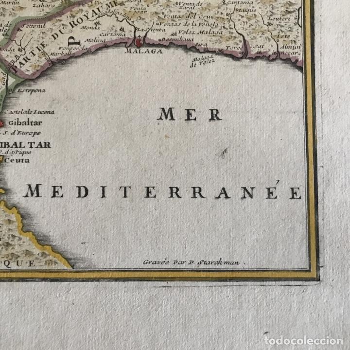 Arte: Gran mapa de Portugal y el occidente de España, 1705. N. de Fer/Starckman - Foto 9 - 269732188
