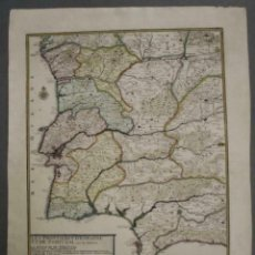 Arte: GRAN MAPA DE PORTUGAL Y EL OCCIDENTE DE ESPAÑA, 1705. N. DE FER/STARCKMAN. Lote 269732188