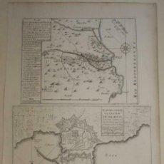 Arte: BATALLA DE VERGES Y PLANO DE PALAMÓS (GERONA, ESPAÑA), 1694. P. DE SAINTE-HELENE/DUVAL. Lote 270884413