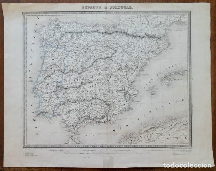 GRABADO ESPAGNE & PORTUGAL - AMBROISE TARDIEU - 1830/40- 51 X 41 CM (Arte - Cartografía Antigua (hasta S. XIX))