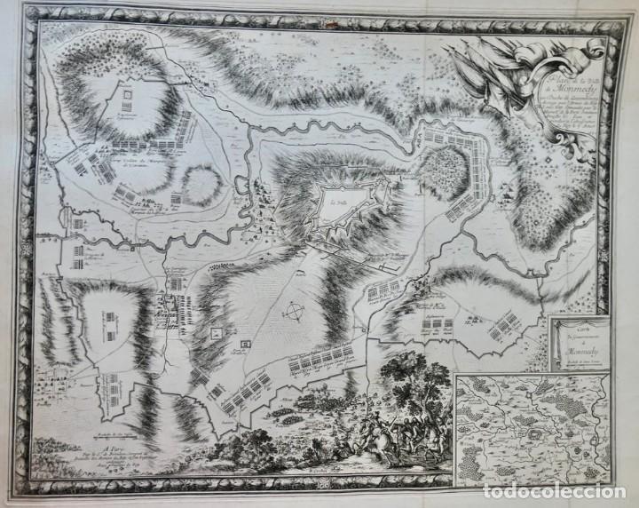 Arte: Plan de la ville de Monmédy au duché de Luxembourg. Assiégé par lArmée du roy Louis XIII. 1657 - Foto 2 - 270903268