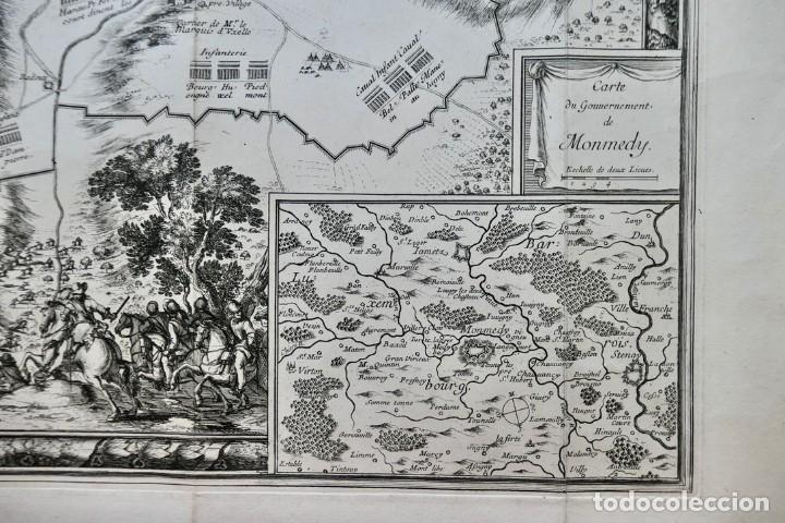 Arte: Plan de la ville de Monmédy au duché de Luxembourg. Assiégé par lArmée du roy Louis XIII. 1657 - Foto 3 - 270903268