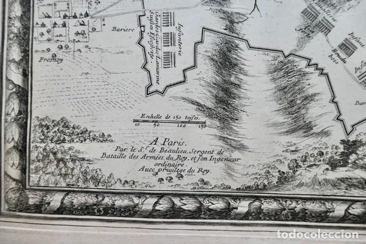 Arte: Plan de la ville de Monmédy au duché de Luxembourg. Assiégé par lArmée du roy Louis XIII. 1657 - Foto 4 - 270903268
