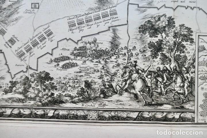 Arte: Plan de la ville de Monmédy au duché de Luxembourg. Assiégé par lArmée du roy Louis XIII. 1657 - Foto 5 - 270903268