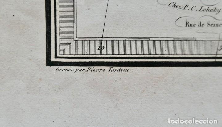 Arte: CARTE DE LEMPIRE ROMAIN -DRESSÉE PAR MR. LAPIE - PARIS 1838- 64 X 49 CM - Foto 5 - 270904823