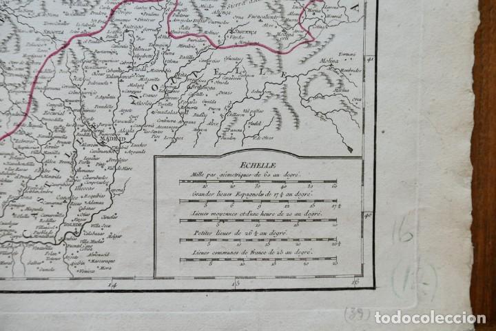 Arte: PARTIE SEPTENTRIONALE DE LA COURONNE DE CASTILLE -PAR SR ROBERT DE VAUGONDY 1752 - Foto 4 - 270906218