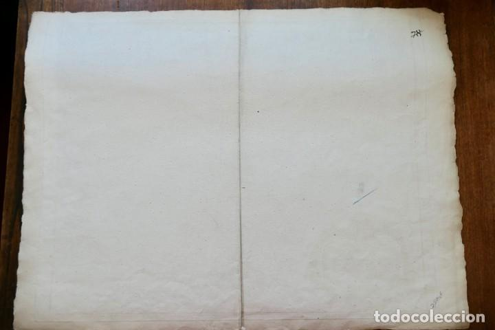 Arte: PARTIE SEPTENTRIONALE DE LA COURONNE DE CASTILLE -PAR SR ROBERT DE VAUGONDY 1752 - Foto 7 - 270906218