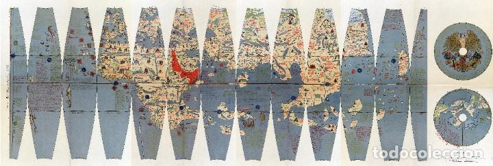 1492/1908/1986 - RARÍSIMA EDICIÓN DEL GLOBO DE MARTIN BEHAIM - CON IMPRESIÓN EN ORO Y PLATA (Arte - Cartografía Antigua (hasta S. XIX))