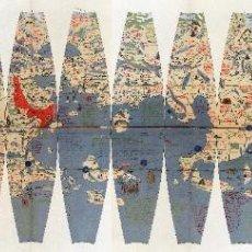 Arte: 1492/1908/1986 - RARÍSIMA EDICIÓN DEL GLOBO DE MARTIN BEHAIM - CON IMPRESIÓN EN ORO Y PLATA. Lote 271075993