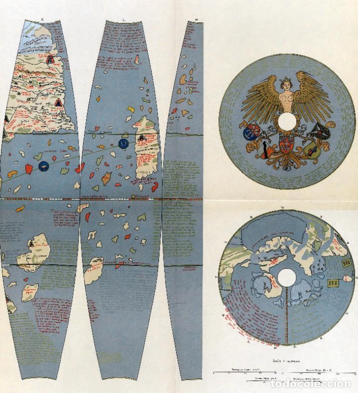 Arte: 1492/1908/1986 - Rarísima edición del globo de Martin Behaim - Con impresión en oro y plata - Foto 4 - 271075993