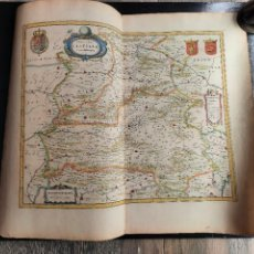 Arte: ESPECTÁCULAR MAPA ORIGINAL CASTILLA TOLEDO SALAMANCA ALCALA DE HENARES AVILA MADRID BLAEU S XVIII. Lote 271080113