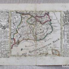 Arte: MAPA DE CATALUÑA - BODENEHR - AÑO 1717 - EDICION MODIFICADA - ORIGINAL. Lote 210580250