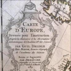 Arte: GRAN MAPA DE EUROPA, 1789. DELISLE/BUACHE/DEZAUCHE. Lote 275050783